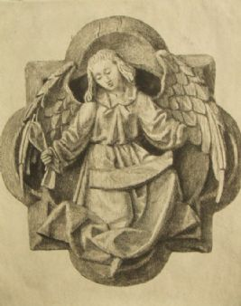 David Waterson; 'Angel' pencil signed